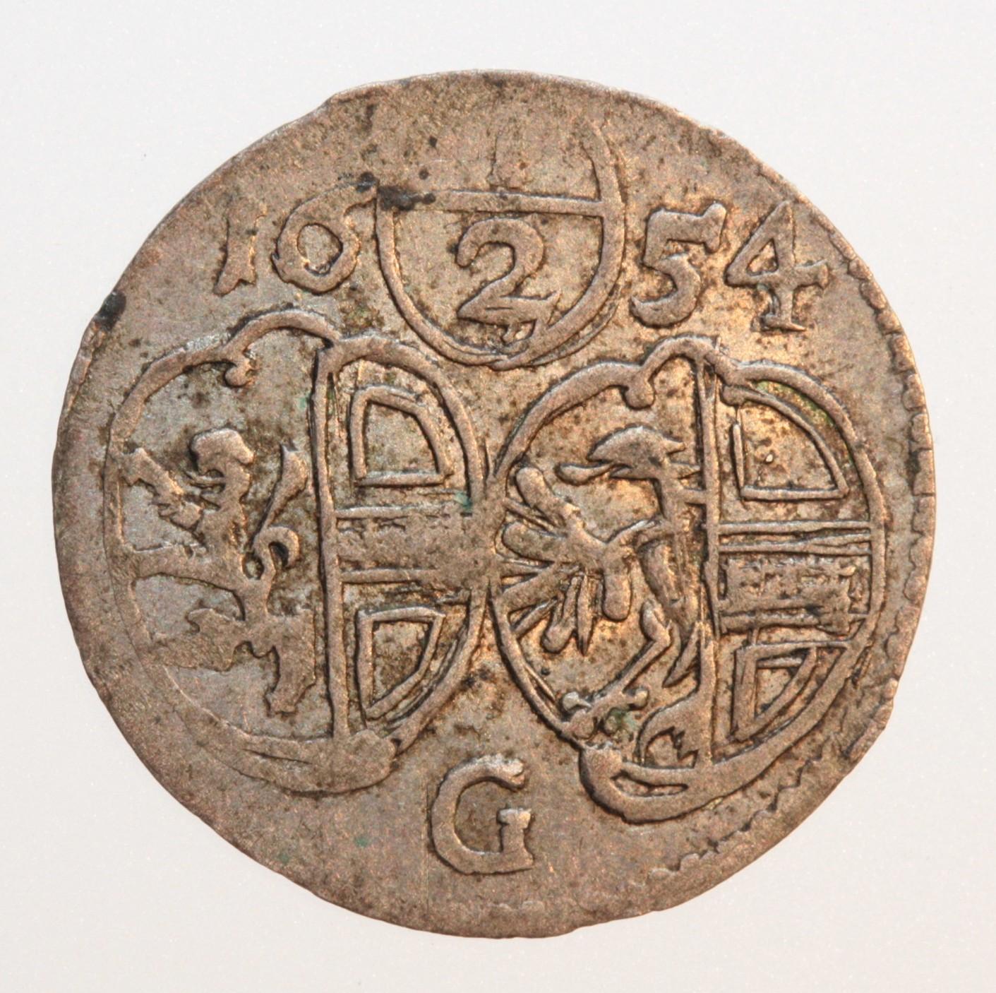 Halbkreuzer 1654 mit komplettem Wappen