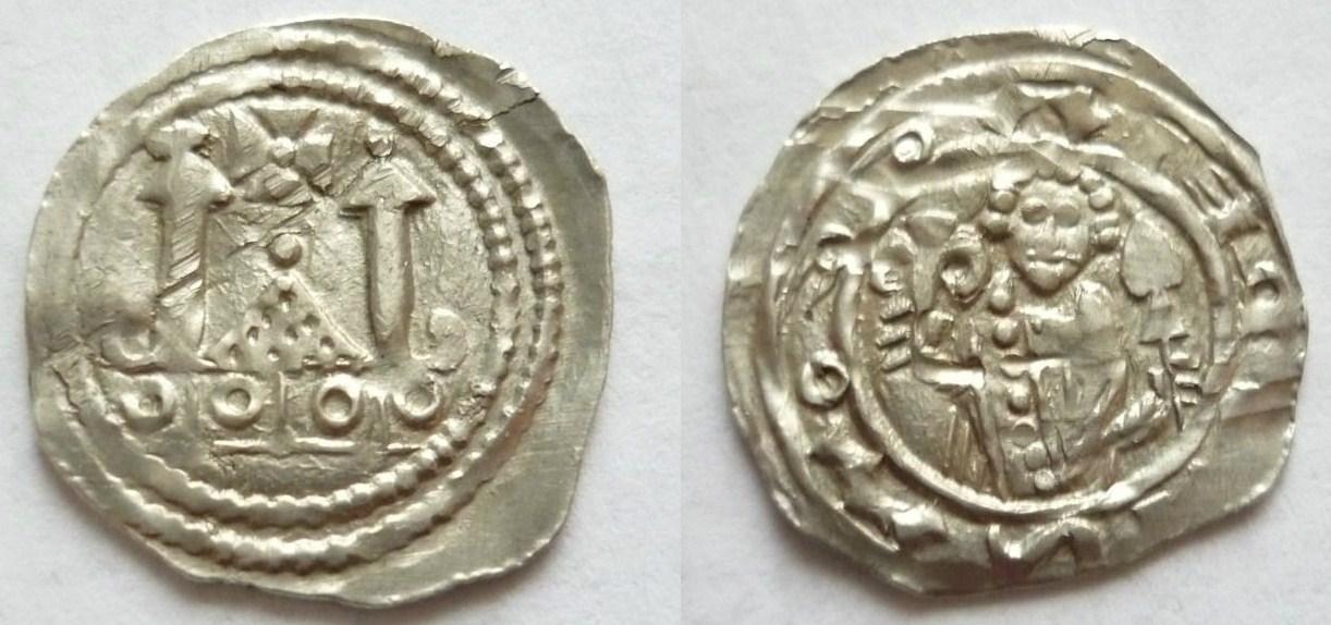 Pfennig Heinrich 4. von Andechs Meranien, Mzst. Stein