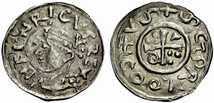 Denar König Heinrich2. 1009-1024, Mzst. Salzburg