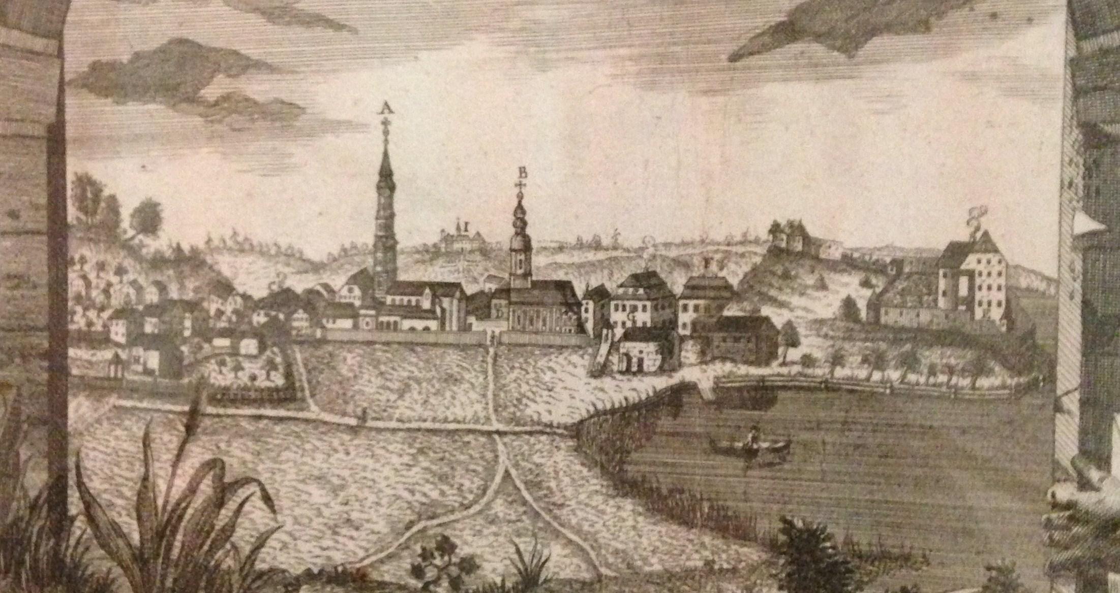 Kalender zum Stiftsjubiläum 1777; Johann Friedrich CARL, Burghausen; Detail