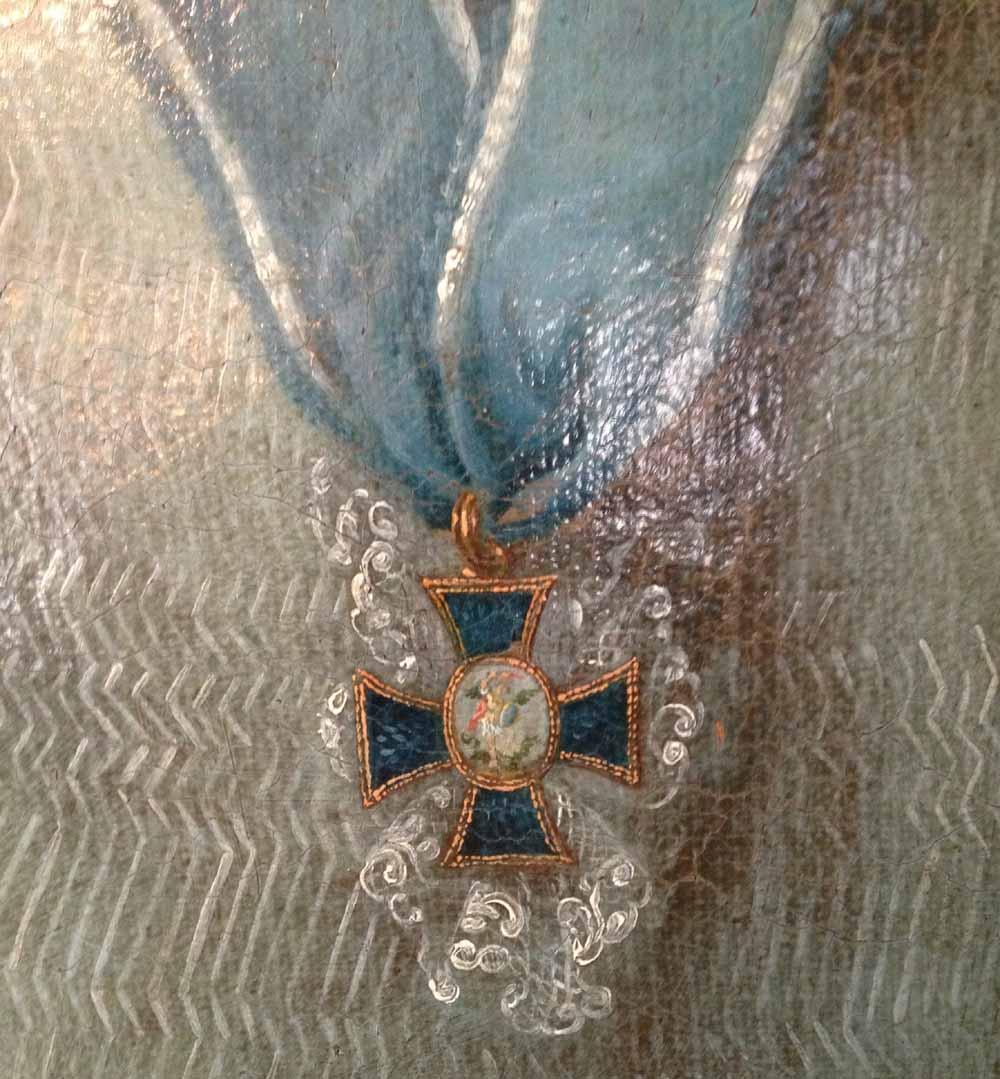 Kanonikerkreuz auf einem Brustporträt von 1780