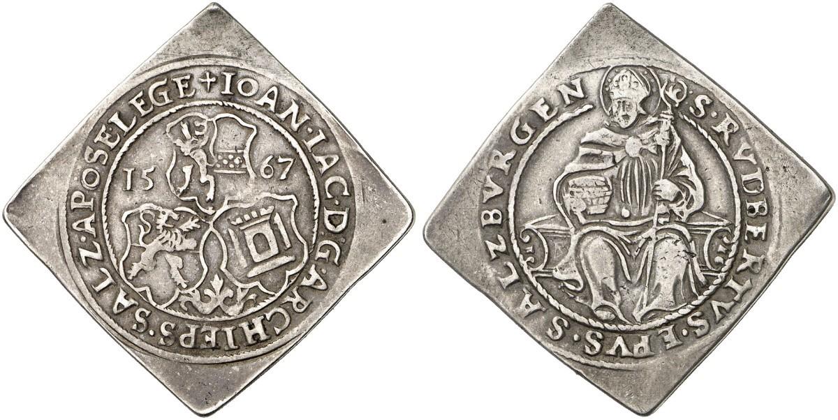 Künker 261: Vierteltalerklippe 1567