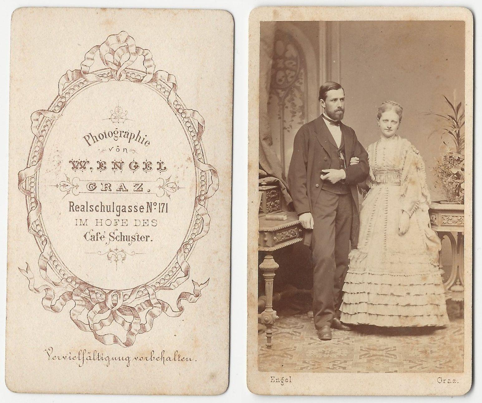 Arnold Luschin mit Gattin Berta Macowitz, Graz nach 1870