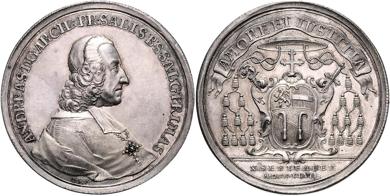 Medaille 1747 Regierungsantritt