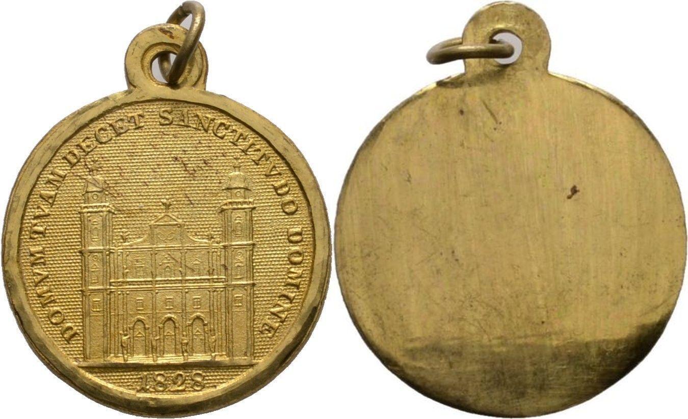 Medaille auf das Domweihjubiläum 1828, Bronze alt vergoldet