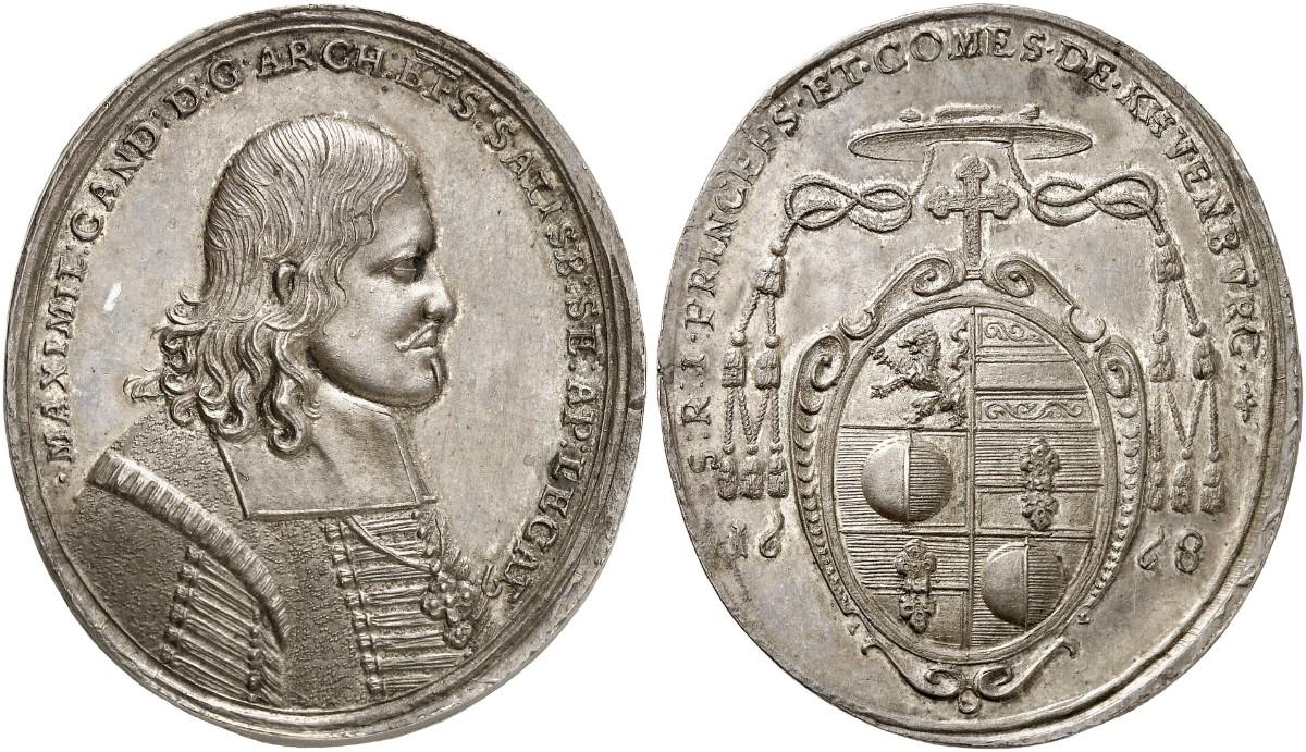 Ovale Porträtmedaille 1668, Bild: Gorny und Mosch, München