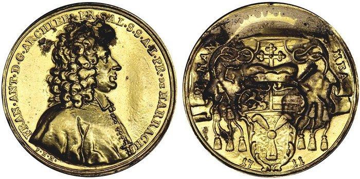 Goldmedaille zu 10 Dukaten1711