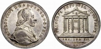 Talergrosse Medaille auf das Stiftsjubiläum 1782