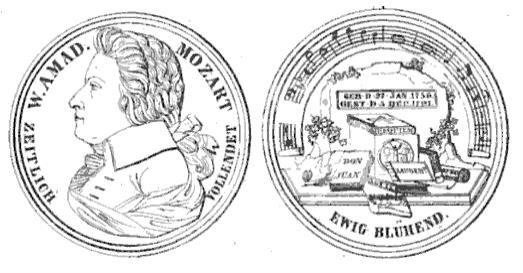 Allgemeine Wiener Musik-Zeitung 1843, Mozart Medaille von Doell