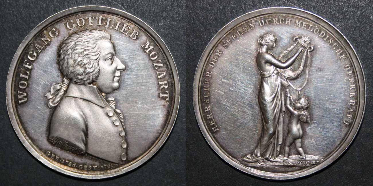 Mozartmedaille 1805 von Guillemard