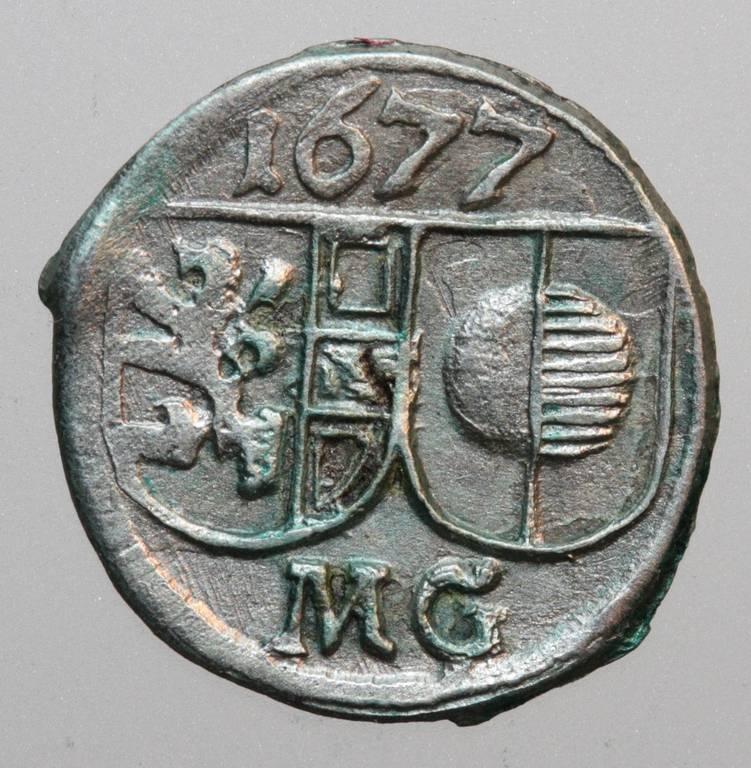 Pfennig 1677 Max Gandolph