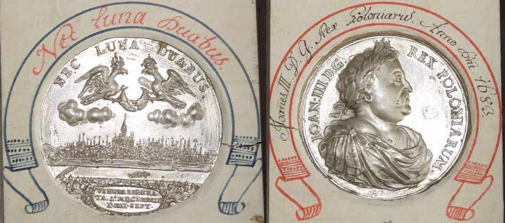 Johann Sobieski, Medaille 1683 auf den Entsatz Wiens