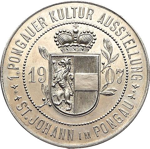 Unedierte Medaille St. Johann im Pongau 1907