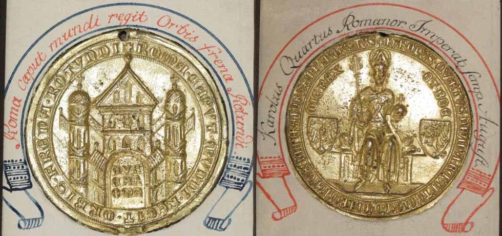 Abschlag der Goldenen Bulle Kaiser Karl 4.