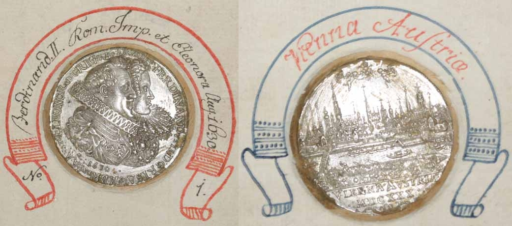 Ferdinand 2., Medaille auf die Huldigung der Stadt Wien