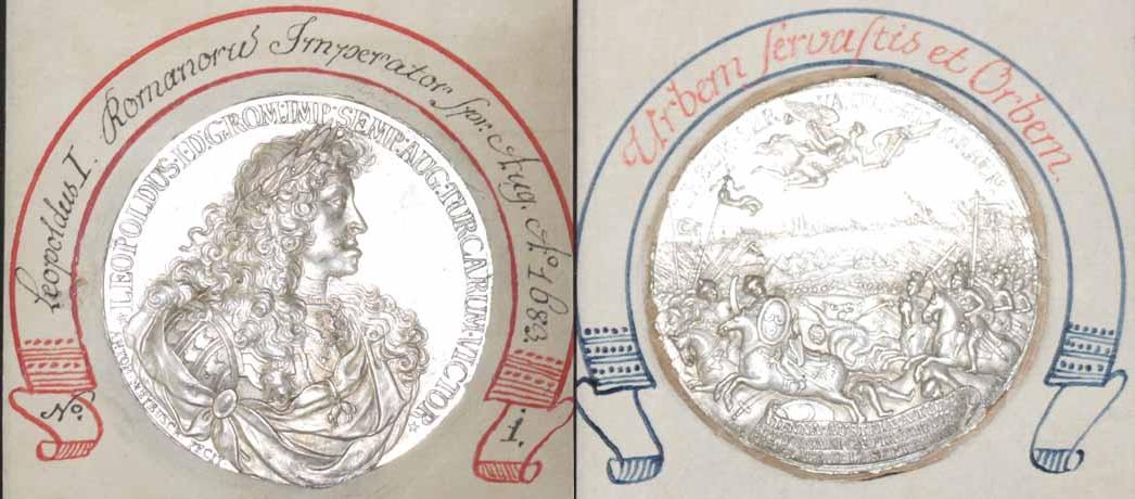 Leopold 1., Medaille 1683 auf die Türkenbelagerung Wiens