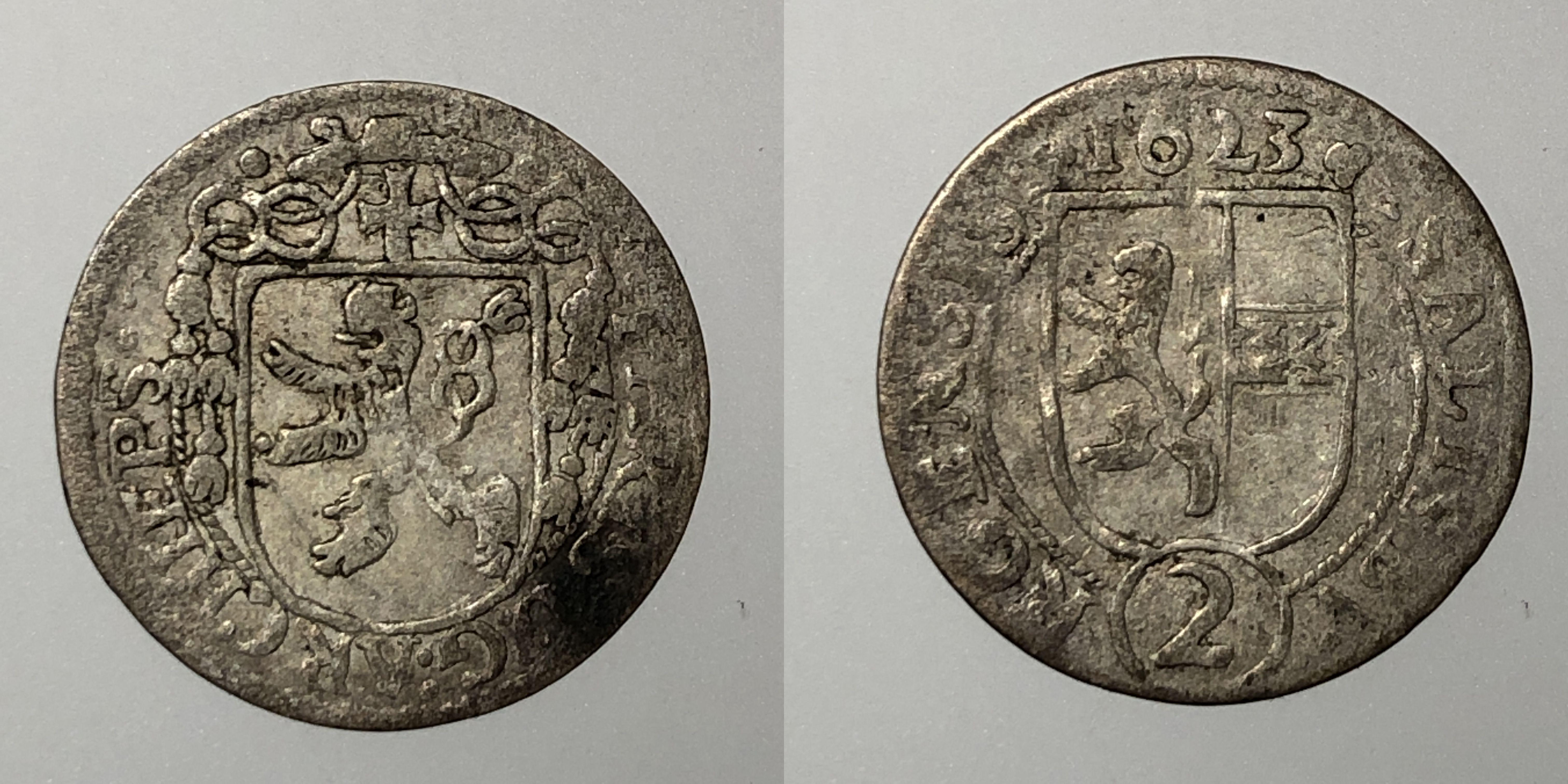 Salzburg Paris Lodron 2 Kreuzer 1623