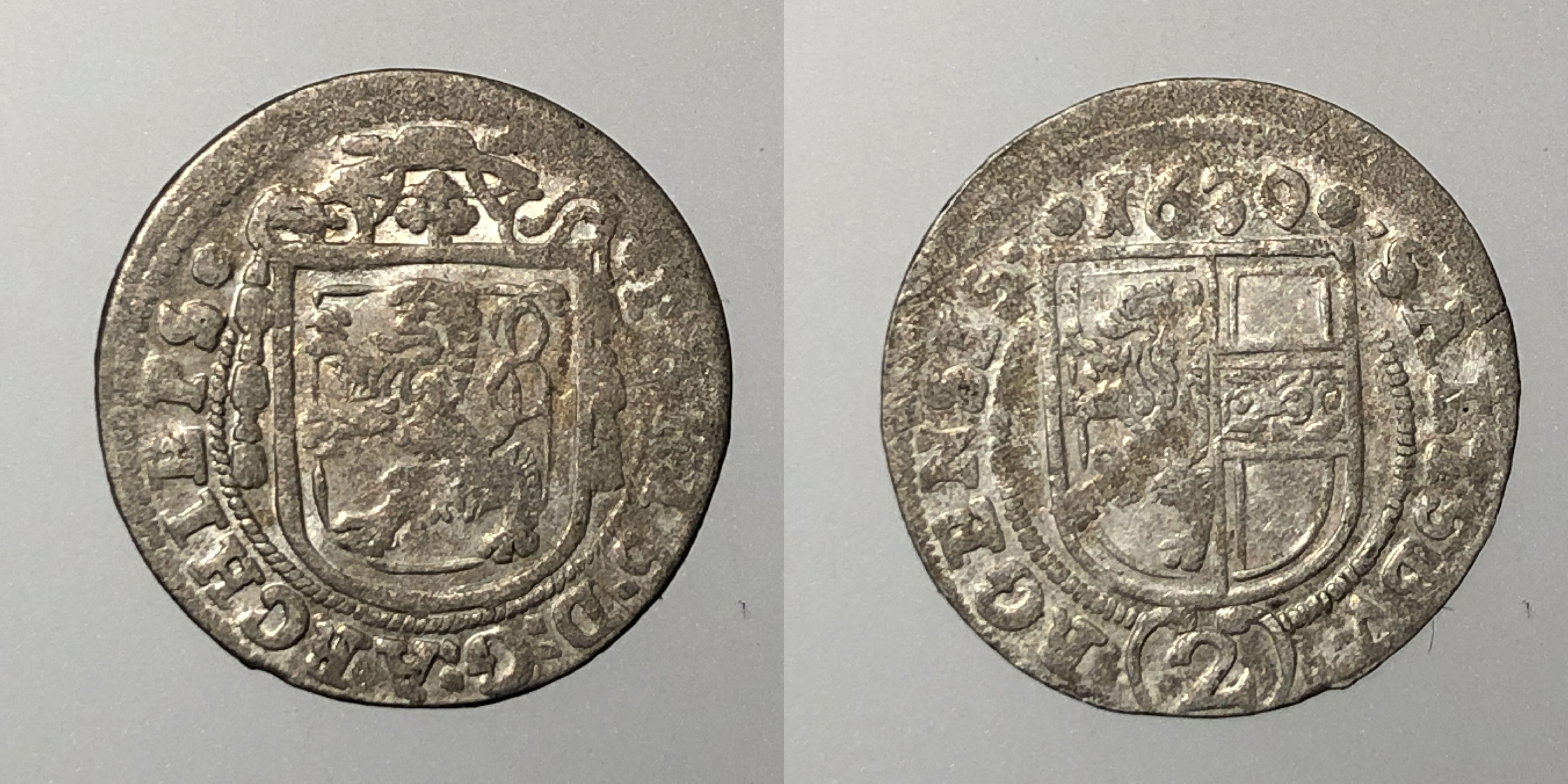 Salzburg Paris Lodron 2 Kreuzer 1630
