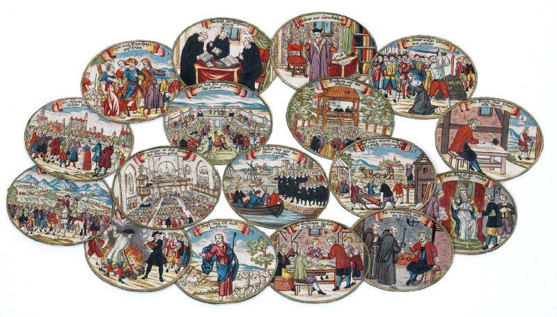 Kupfersticheinlagen zu Salzburger Emigrationsmedaille