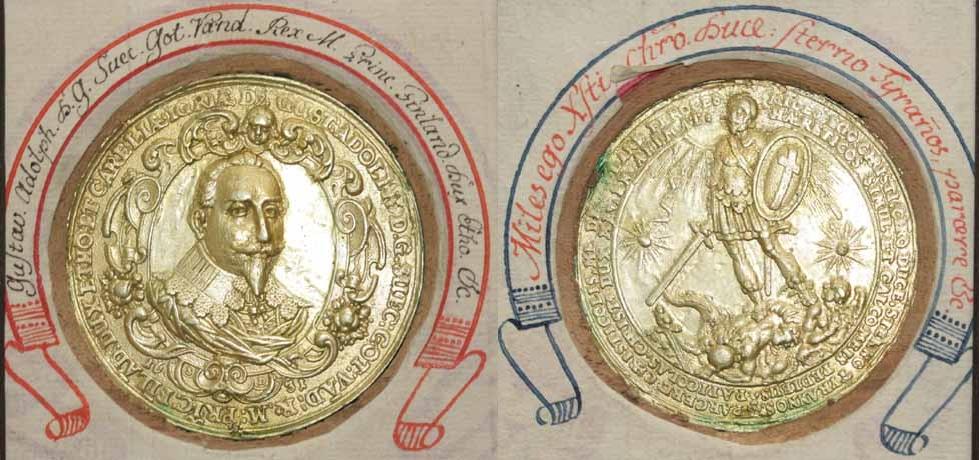 Gustav Adolf, Medaille 1631 auf den Sieg von Breitenfeld