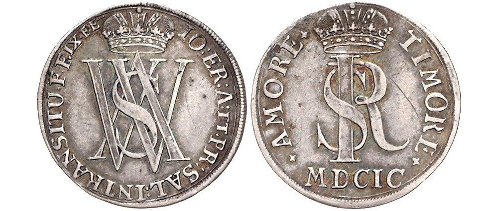 Auswurfmünze Sechsteltaler 1699 Salzburg