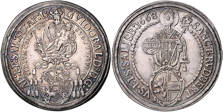 Taler 1668 Guidobald Thun, RRR!  Bild: Dorotheum Wien