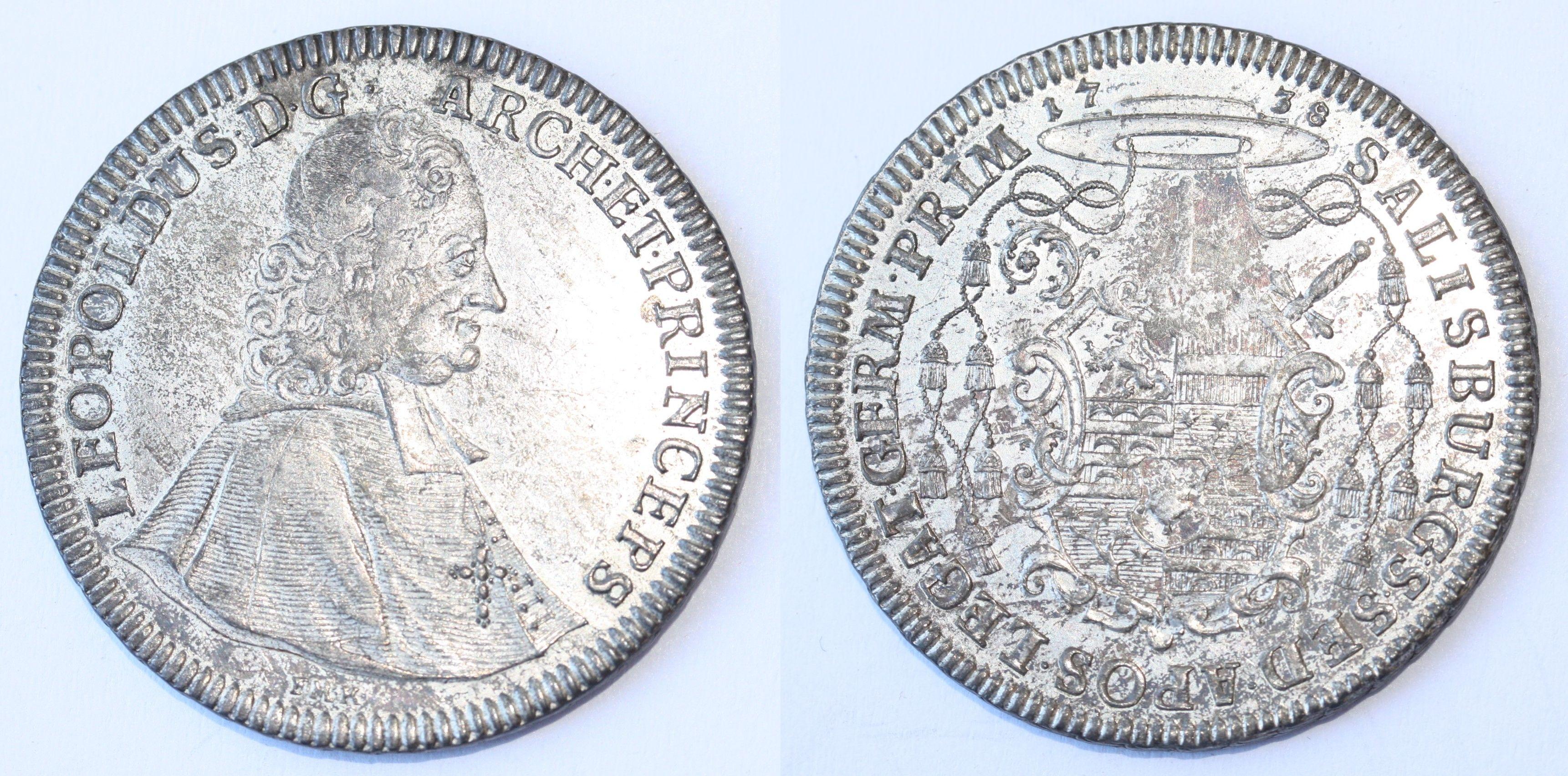 Taler 1738 Porträt, Münzkabinett Gotha