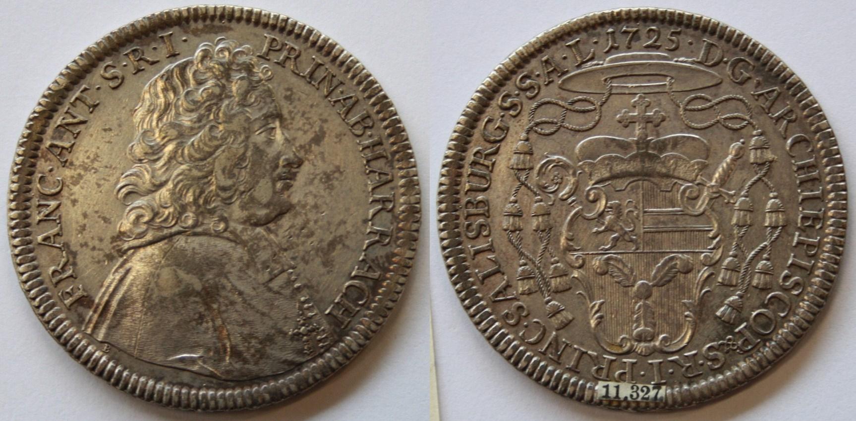 Portättaler 1725 von Becker