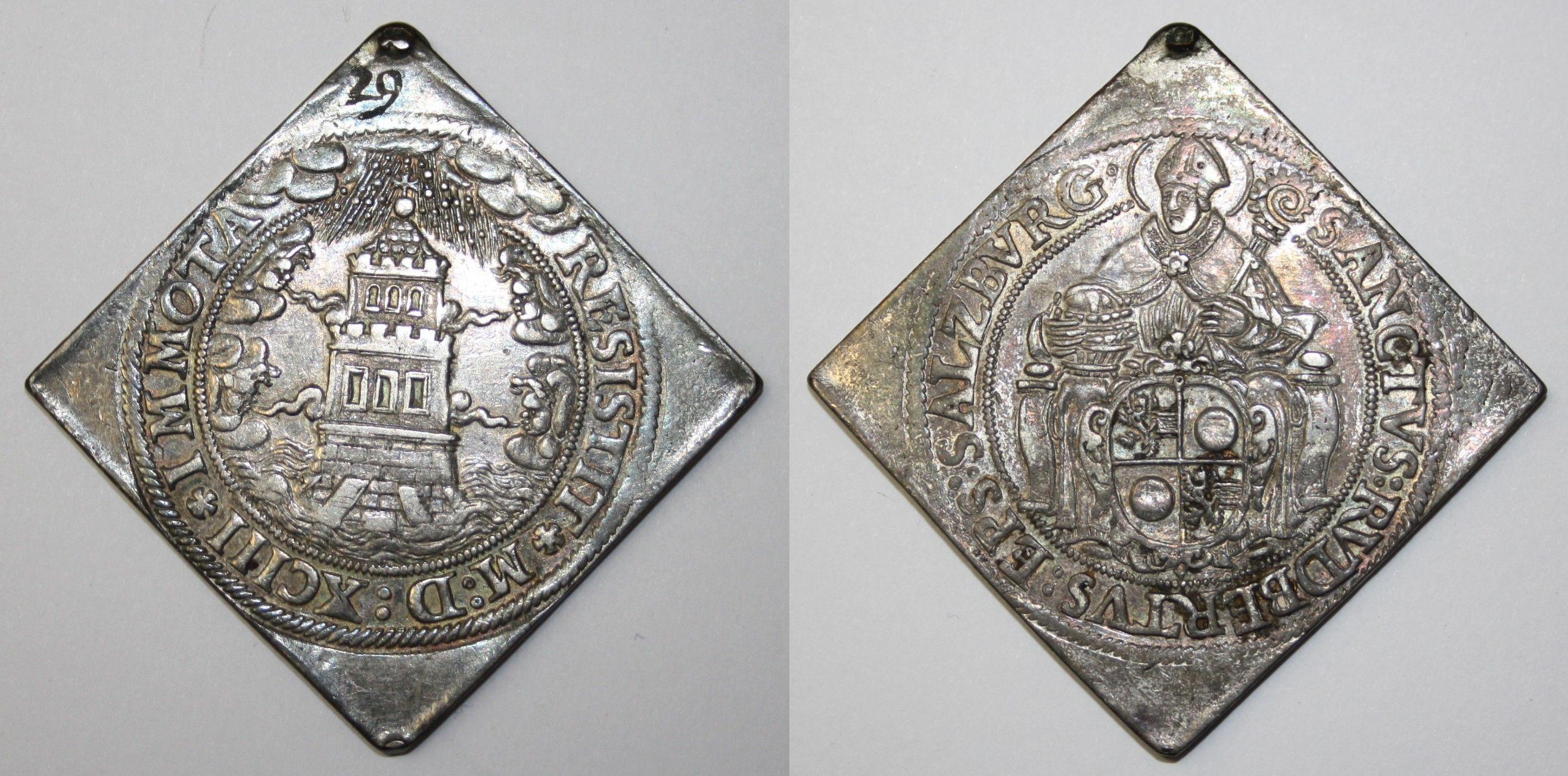 Turmtalerklippe 1593 (vierfeldiges Wappen)