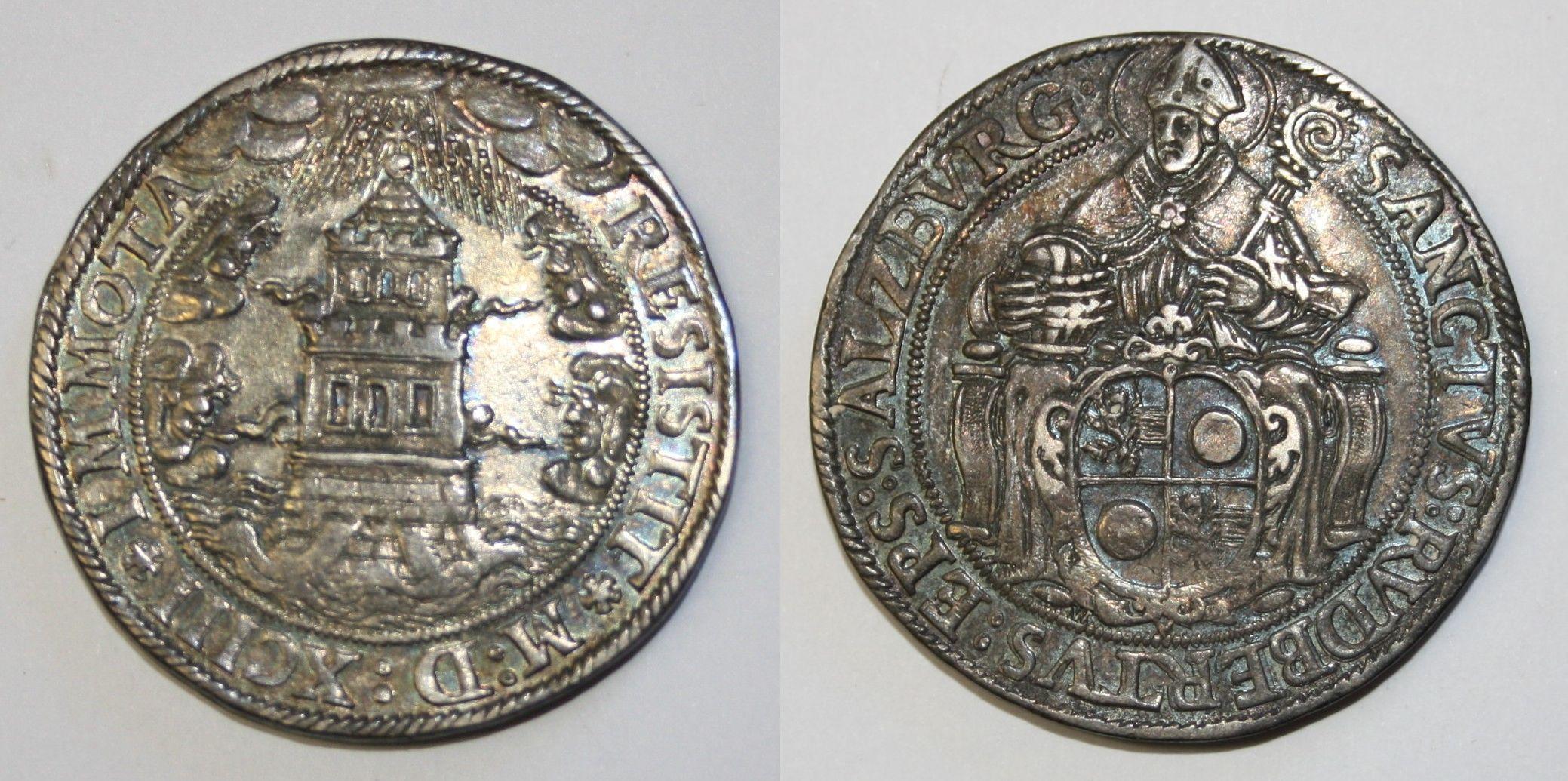 Einfacher Turmtaler 1593, alter Typ