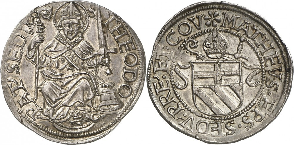 Valais, Teston 1499-1522; Numismatica Genevensis Auktion 8, 24.11.2114