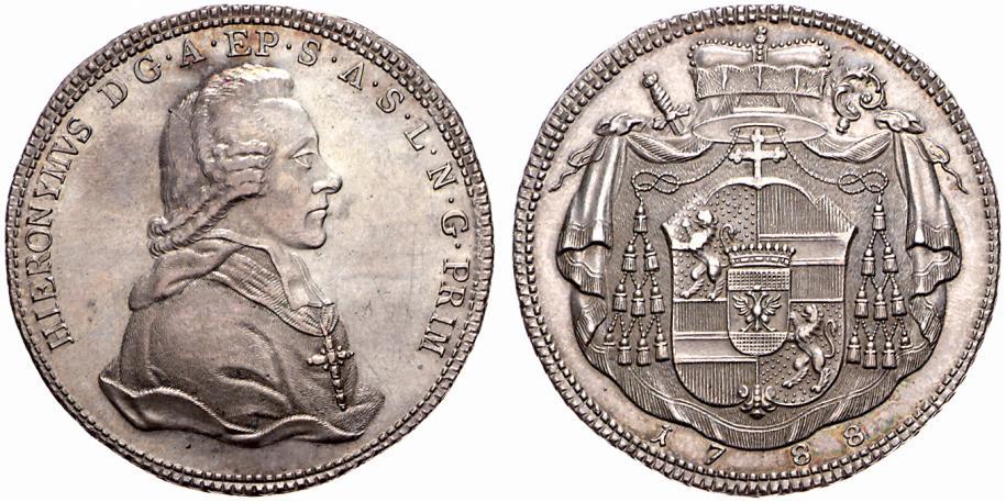 """WAG Auktion 52 : Der """"Mehofer"""" Taler von 1788"""