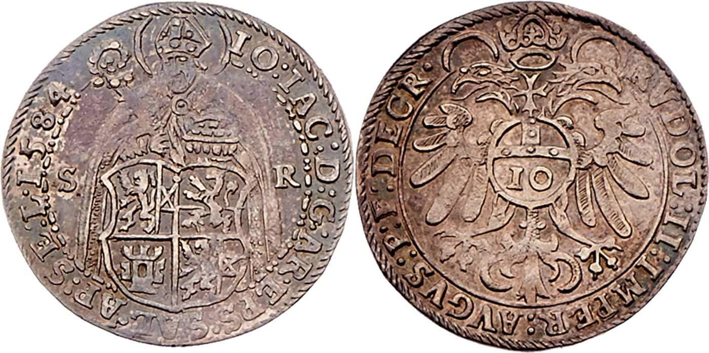 Zehner 1584, Dr. Frühwald,Auktion 120 - höchstselten