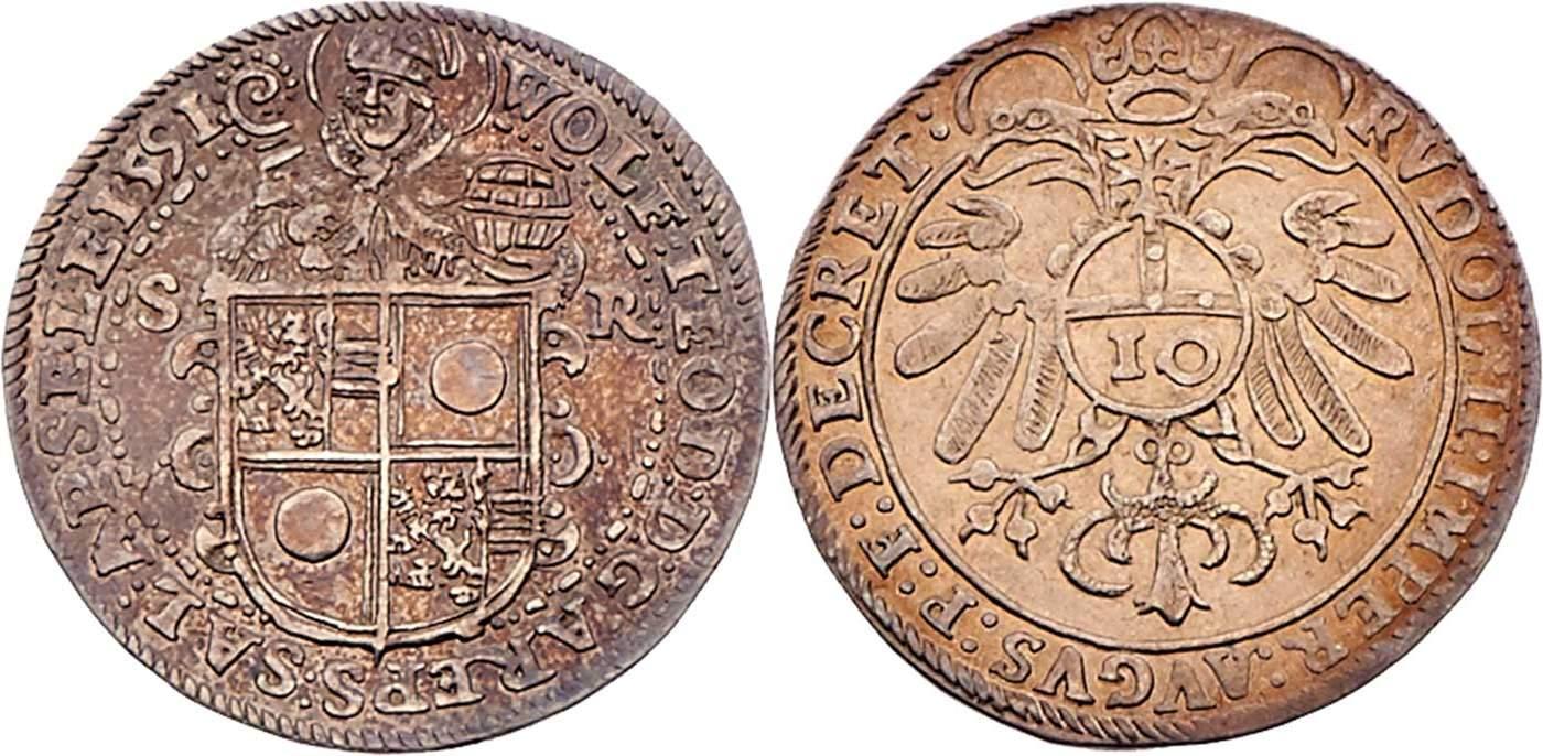 Zehner 1591, Dr. Frühwald,Auktion 120 - höchstselten